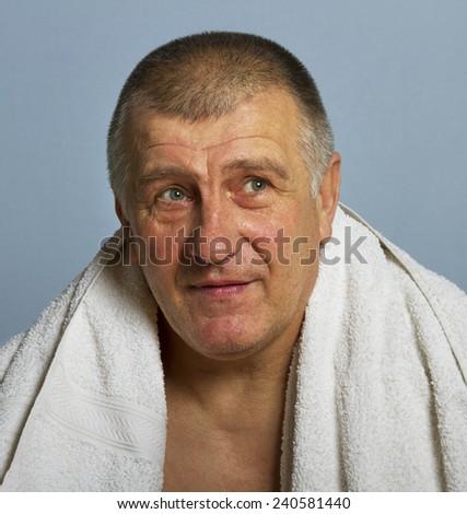 Portrait of adult man. - stock photo