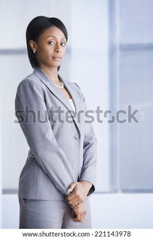 Portrait of African American businesswoman - stock photo
