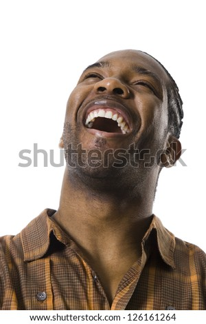 Portrait of African American man laughing