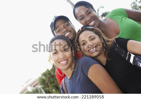 Portrait of African friends - stock photo