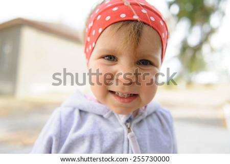 portrait of amazing smiling girl  - stock photo