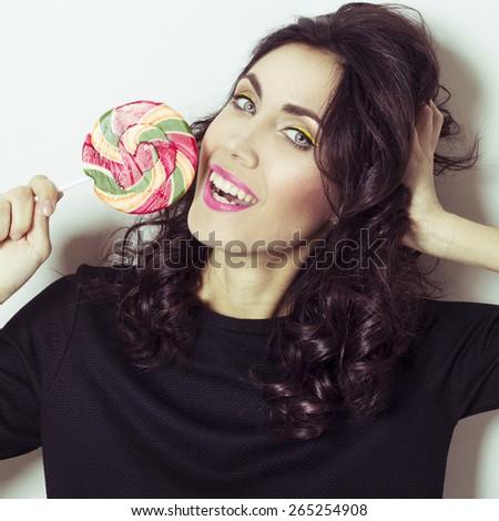 Portrait of amazingly sexy beautiful young redhead woman - stock photo