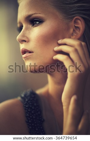 Portrait of an adorable blond woman