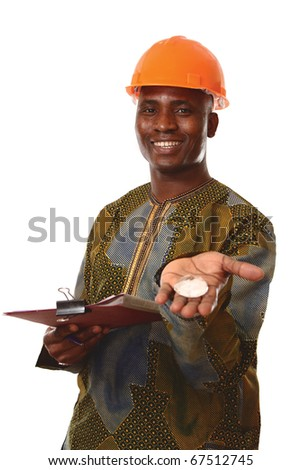 Portrait of an African American whith diamond - stock photo