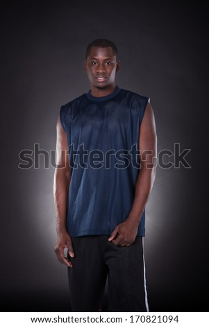 Portrait Of An African Young Man On Black Background - stock photo