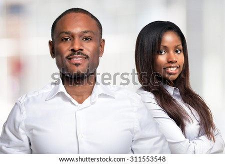 Portrait of an afro-american couple - stock photo