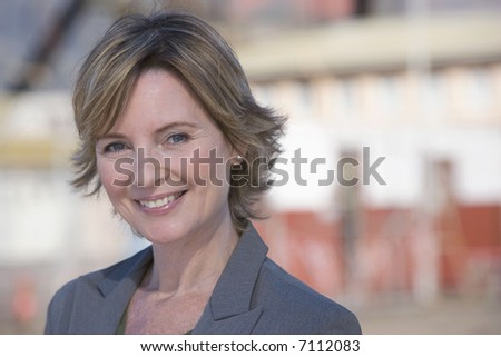 Portrait of an architect on location - stock photo