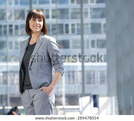 Portrait of an attractive executive business woman - stock photo