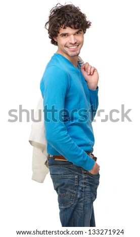 Portrait of an attractive man smiling - stock photo