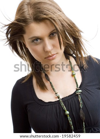 portrait of an attractive  model - stock photo