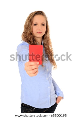 Portrait of an attractive young girl. All on white background. - stock photo
