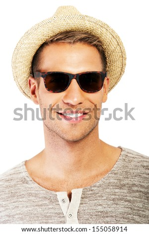 Portrait of an attractive young man - stock photo