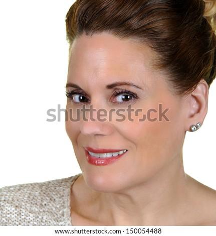 Portrait of an Beautiful Mature Woman  - stock photo