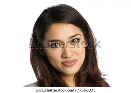 Portrait of an beautiful young Asian woman shot in a studio - stock photo
