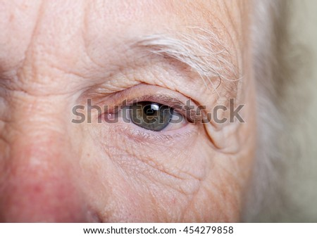 Portrait of an elderly woman. Closeup view. - stock photo