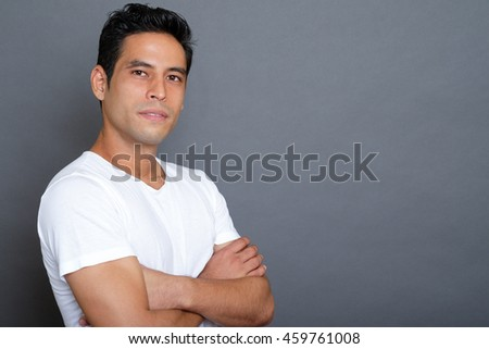 Portrait of an handsome  asian man  - stock photo