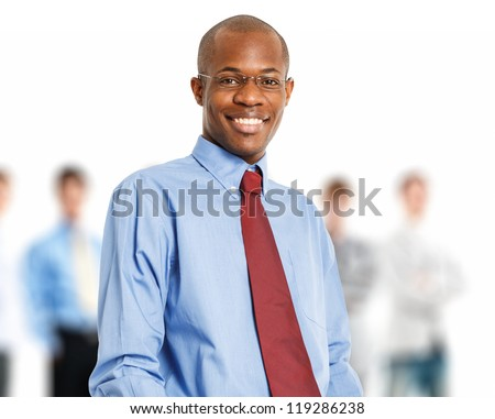 Portrait of an handsome black businessman