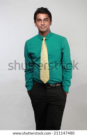 Portrait of an Indian business executive  - stock photo