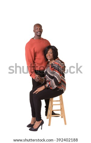 Portrait of an older couple isolated  - stock photo