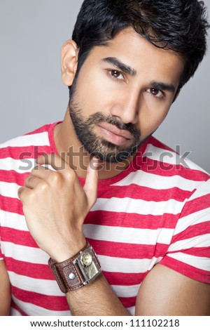 Portrait of an young Asian man - stock photo
