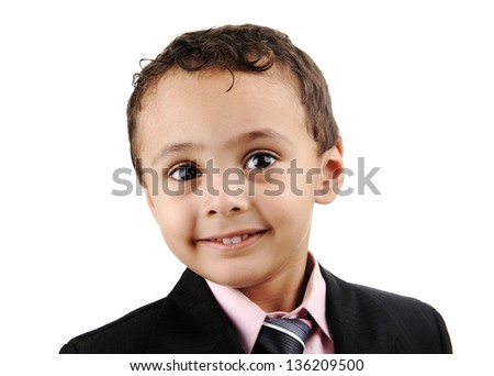 Portrait of Arabian Little Boy, funny