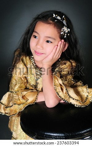 Portrait of asian beautiful girl