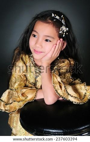 Portrait of asian beautiful girl - stock photo