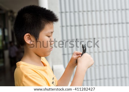 Portrait Of asian Boy