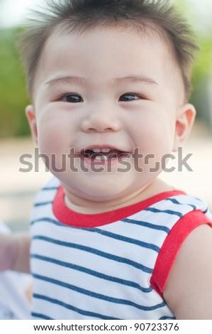 Portrait of asian boy, Thailand. - stock photo