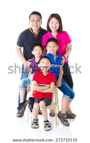 Portrait of asian family