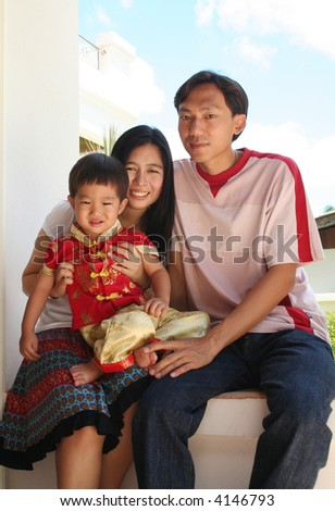 Portrait of asian family.