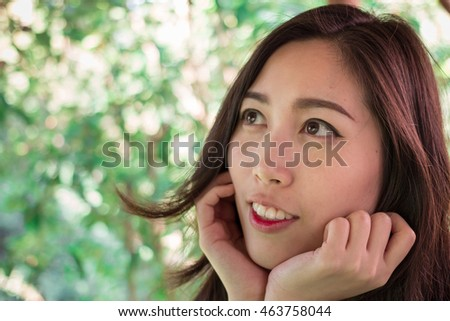 Portrait of Asian girl. Beautiful Asian girl. Travel and Lifestyle.