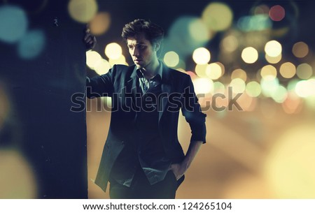 Portrait of attractive man with casual clothes - stock photo