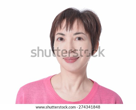 portrait of attractive young woman portrait  - stock photo