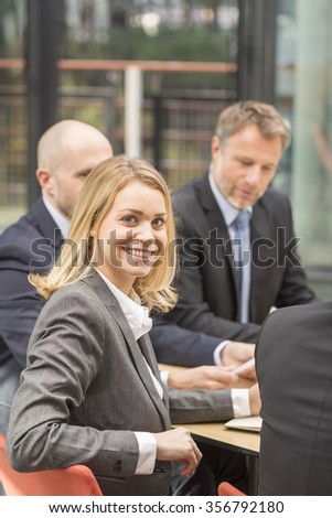 Portrait of attrative business woman