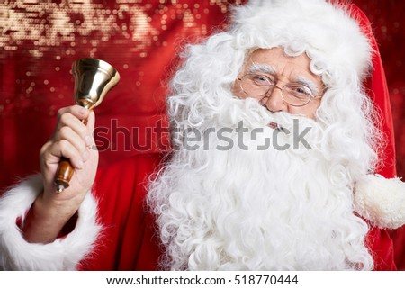 Portrait of authentic Santa Claus. Christmas fantasy.