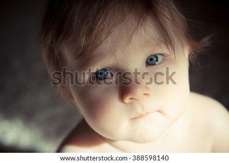 Portrait of baby close up