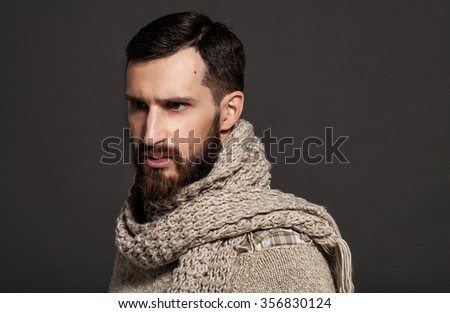 Portrait of bearded man