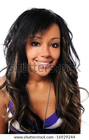 Portrait of beautiful African American woman smiling