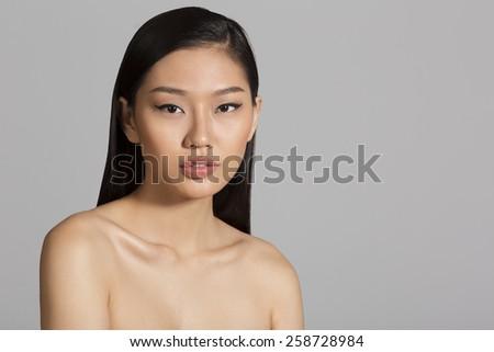 Portrait of beautiful Asian girl - stock photo