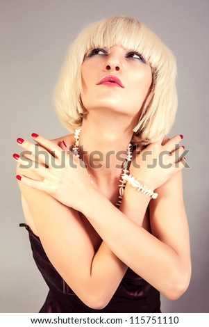 Portrait of beautiful blond girl