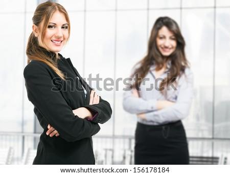 Portrait of beautiful businesswomen - stock photo