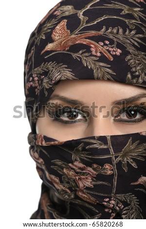 portrait of beautiful eastern woman - stock photo
