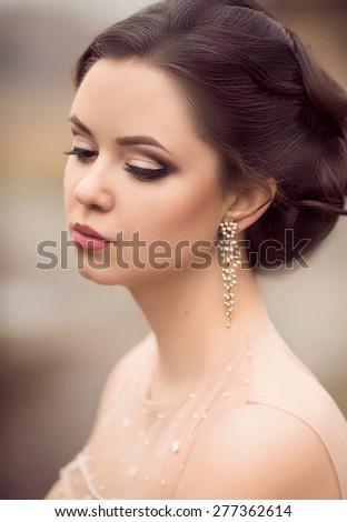 Portrait of beautiful female model  - stock photo