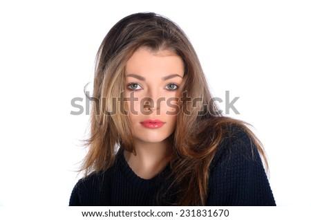 Portrait of beautiful girl - stock photo