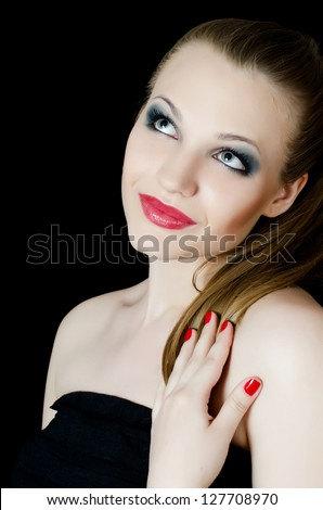 Portrait of beautiful girl - Creative make-up