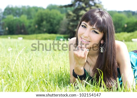 portrait of beautiful girl outdoor,close-up