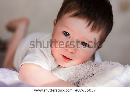 Portrait of beautiful little boy