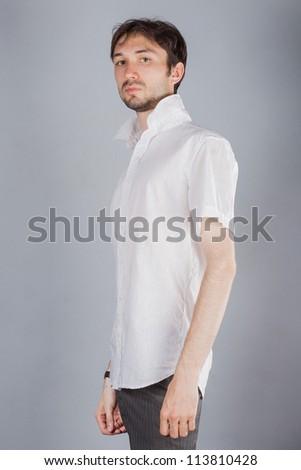 Portrait of beautiful man - stock photo