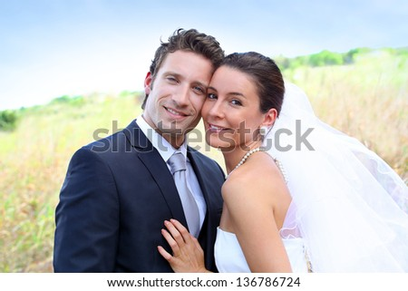 Portrait of beautiful married couple